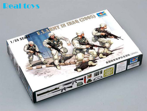 Trumpeter Model 00418 1/35 US Army in Iraq 2005 plastic model kit(China (Mainland))