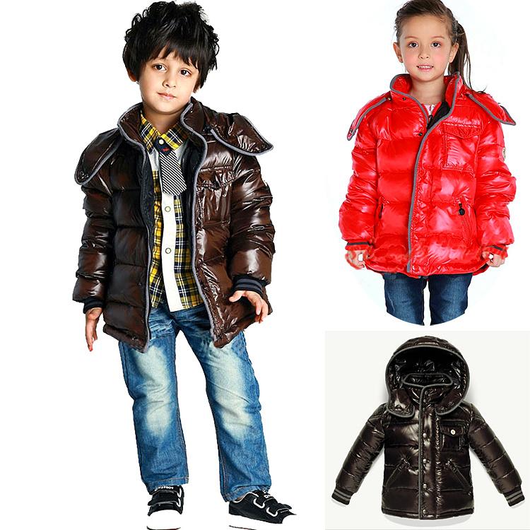 Korean version of the new cap children short thickened zipper cardigan jacket baby winter down jacket coat<br>