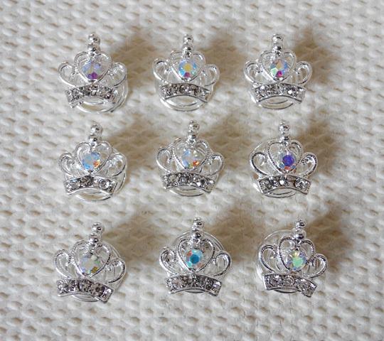 12pcs Lot Crystal Crown Wedding Bridal Prom Hair Twists Spin Pins Hair Accessories(China (Mainland))