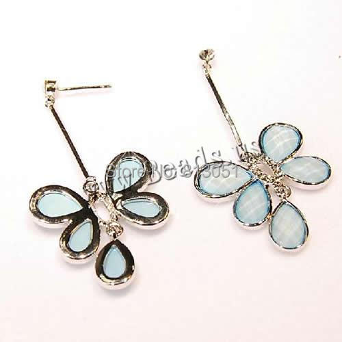 Free shipping!!!Zinc Alloy Drop Earring,2014 Fashion Jewelry, with , stainless steel post pin, Butterfly, silver color plated<br><br>Aliexpress