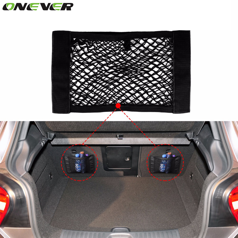 Universal Car Trunk Box Storage Bag Mesh Net Bag 40cm*25CM Car Styling Luggage Holder Pocket Sticker Trunk Organizer(China (Mainland))