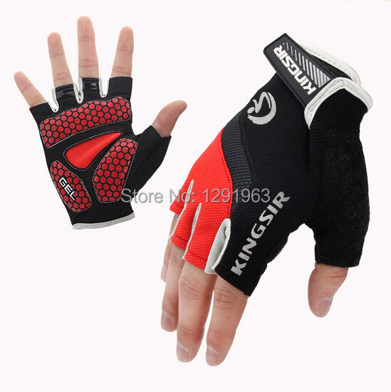 Kingsir GEL Children Road Bike Bicycle Gloves Breathable Half Finger Mountain Bike MTB Cycling Gloves For kids men women S-2XL(China (Mainland))