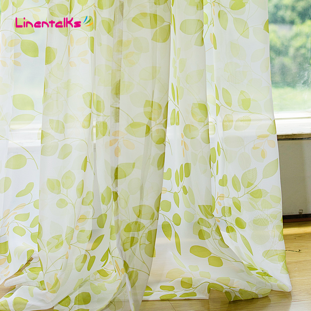 Online krijg goedkoop green leaves curtains  aliexpress.com ...