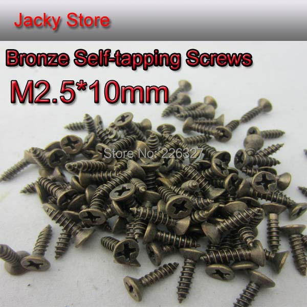 1000pcs/lot M2.5*10mm Antique Hardware Accessories Bronze Philips Head Self-tapping Screws Small Hinge Dedicated Antique Screws(China (Mainland))