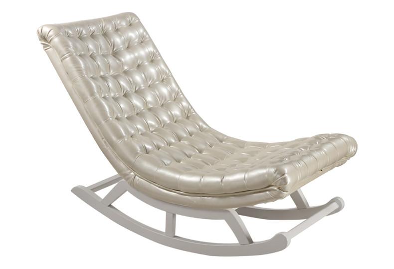 Achetez en gros en cuir chaise ber ante en ligne des - Chaise a bascule adulte ...