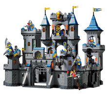 Building Block Set Enlighten 1023 Enlighten Medieval Lion Castle Knight Carriage Model Toys for Children Compatible With Legoe(China (Mainland))