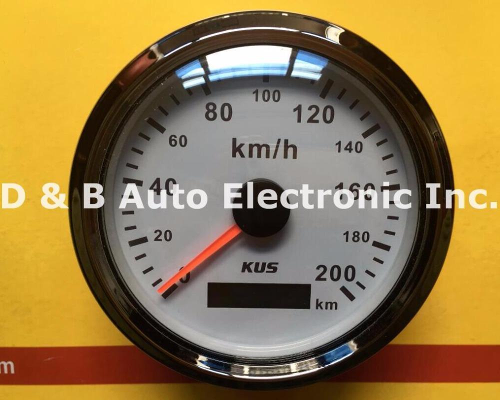 100% New KUS GPS Speedometer 200km/h Speed Chart Motormeter With GPS Antenna White Color(China (Mainland))