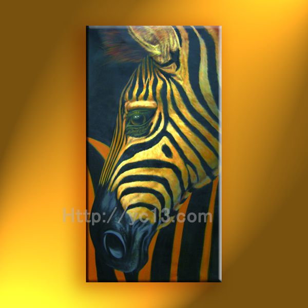 zebra art supplies horse paintings on canvas home goods oil painting canvas art wall decor(China (Mainland))