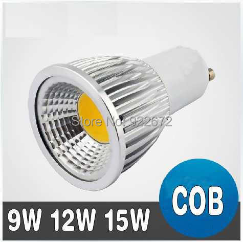 JIN 1pcs New High Power CREE MR16 GU10 E27 E14 9W 12W 15W LED COB spotlight lamp bulb warm cool white 85-265V CE ROHS(China (Mainland))