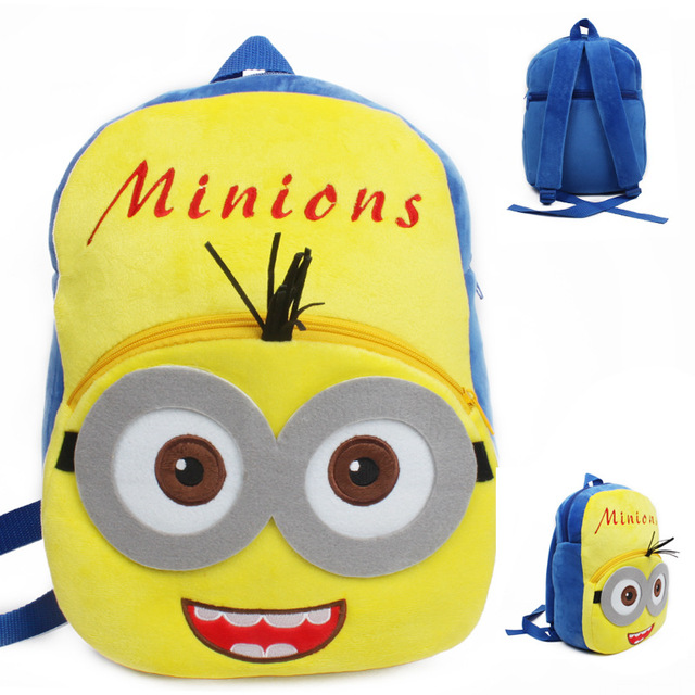 Высокое качество миньоны плюшевые мультфильм игрушки рюкзак дети характер мешок подарок для детей в возрасте 3 - 5 Mochila Infantil горячая распродажа