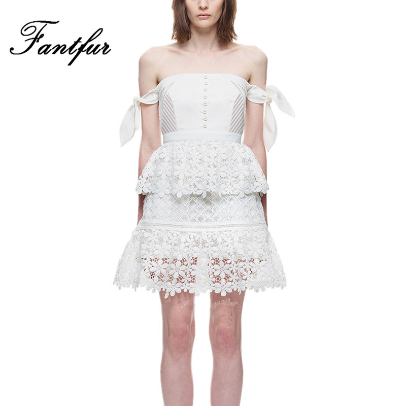 White Tiered Lace Dress Promotion-Shop for Promotional White ...