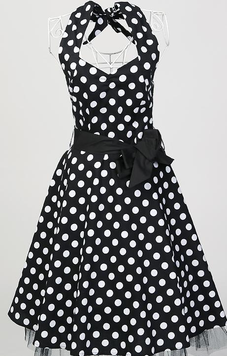 In stock S XXL plus size curvy dresses cotton black white polka dots dress sexy chubby girls big size women clothes hippie boho(China (Mainland))