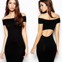 free shipping sexy summer women dress, hot sell club summer women dress ,black strapless women dress 2015(China (Mainland))