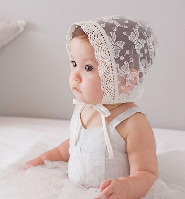 Baby Girls Princess Hats Bonnet Retro Cap Cotton Palace Hat Cute Sun Hats Litte girls Lace cap 1pc H818(China (Mainland))