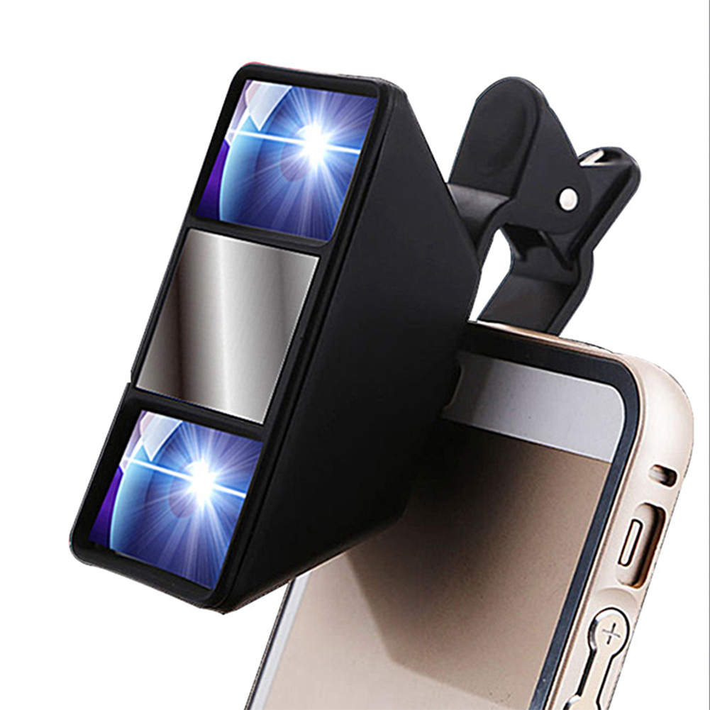 Smartphone Universal 3D Mini Photograph Stereo Vision Camera Lens for iphone 6s plus 5s/5 htc samsung S6 S5 S4(China (Mainland))
