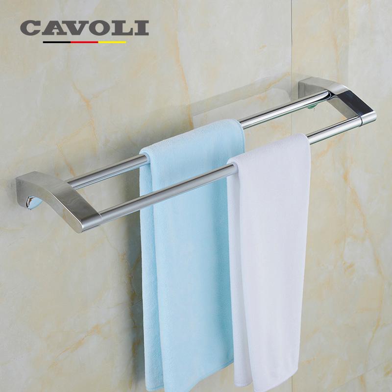 Cavoli Aluminum Anodizing Double Towel Bars Brand Bathroom Accessories #51008(China (Mainland))