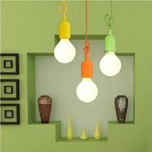 e26 e27 silicone lamp base kitchen pendant light lampholder/110V 220V,cable length 1 meter,Free Shipping(China (Mainland))