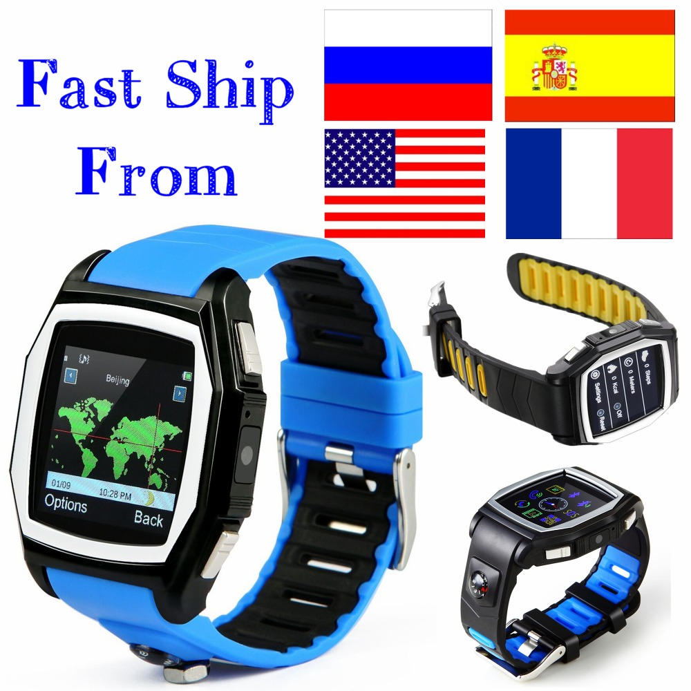 GPS Tracker T6 heart rate monitor watches phone casual digital sim bluetooth wear smart watch for apple sport watch android(China (Mainland))