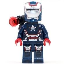 Single Sale #170 Super Hero Avengers MK1 Tony Stark Patriot mini dolls Collection Building Block Best Toys(China (Mainland))