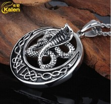 2016 Stainless Steel Cheap Snake Shape Gothic Necklace for Man Fast Free Shipping Punk Fashion  Wholesale