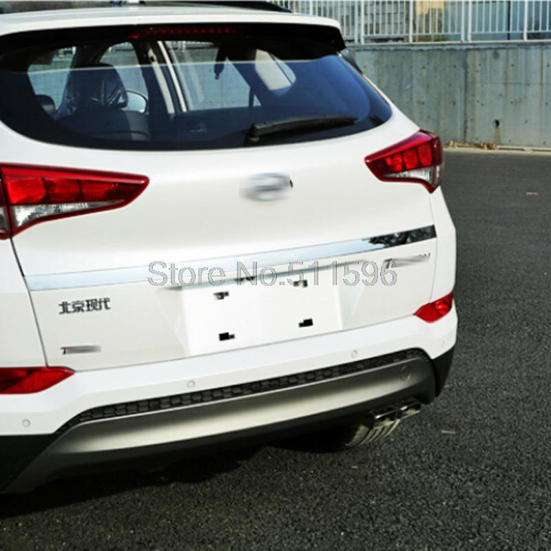 For Hyundai Tucson 2016 Stainless Steel Rear Trunk Lid Cover Trim Tail Gate Protector Back Trunk Cover Decoration Accessories<br><br>Aliexpress