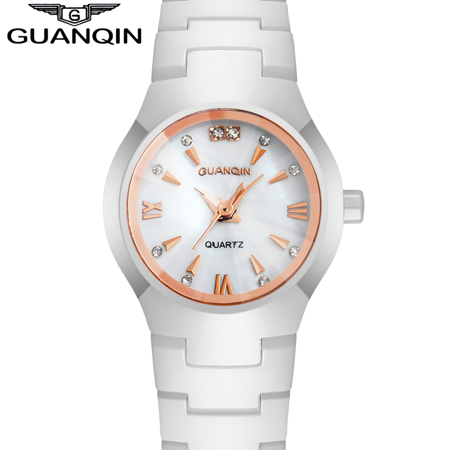 New Fashion Women Dress Watch Lady Original Brand Luxury Wristwatch Waterproof Sapphire Quartz Rhinestone Ceramic Watch<br><br>Aliexpress