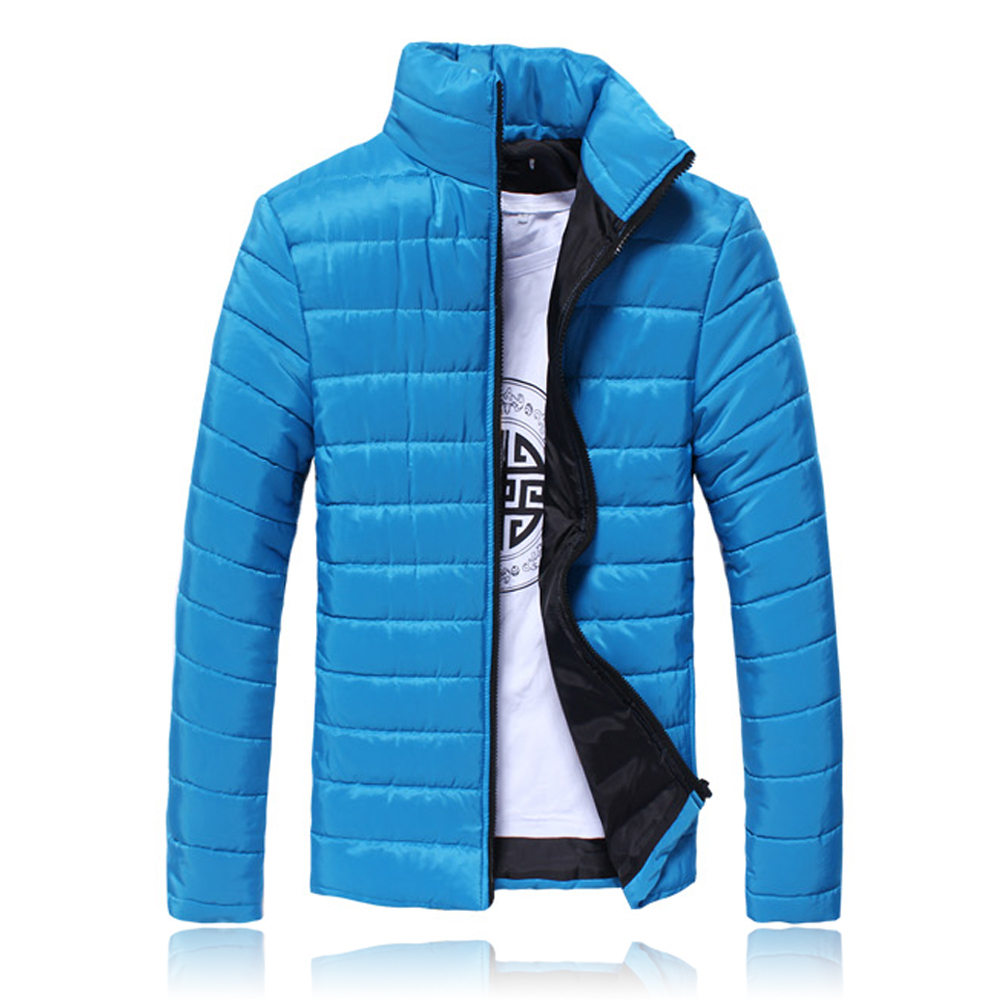 2015 Casual Winter Men s Clothes Warm Outwear Coat Men s Outdoors Flat Slim Thick Warm