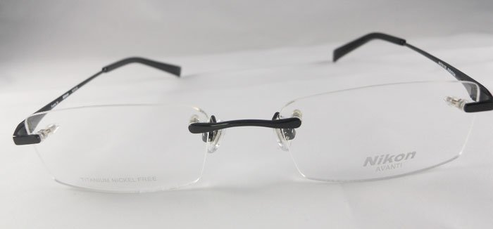 free shipping optical glasses frames with titanium rimless