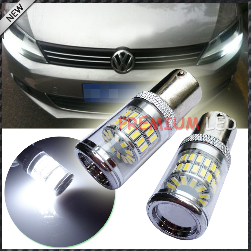 CANbus HID White Reflector LED Bulbs for Volkswagen MK6 Jetta Daytime DRL Lights(China (Mainland))