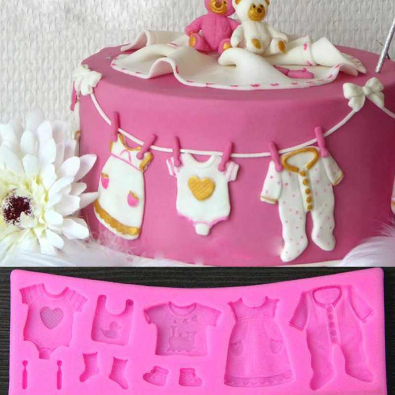 Baby Cloth Shape 3D Silicone Fondant Mould Cake Decorating Tool Cupcake Mold(China (Mainland))