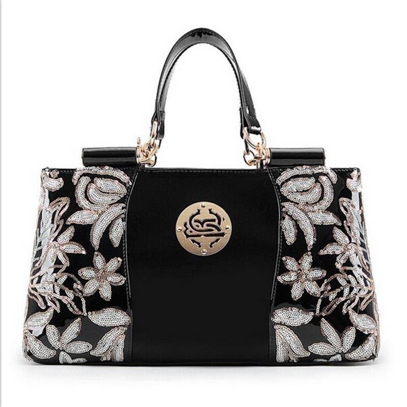 2016 New Genuine leather bag Women handbag high-grade Women messenger bag / women bag real patent leather bag luxury Women Tote(China (Mainland))
