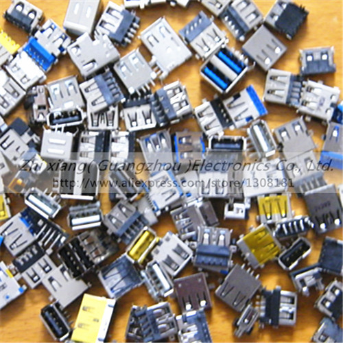 USB Jack For Lenovo Acer Asus Samsung Dell  HP Toshiba Sony Laptop 2.0 USB connector &amp; 3.0 USB Socket Plug 90models, 90 pcs<br><br>Aliexpress