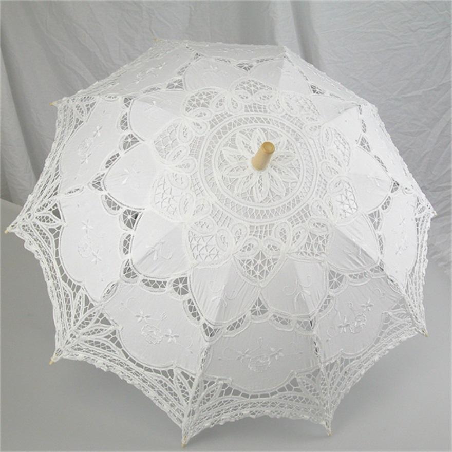 Online kopen wholesale wit katoen paraplu uit china wit katoen paraplu groothandel - Paraplu katoen ...