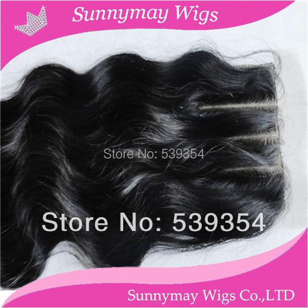 Фотография Sunnymay silk top closure 100% human hair Malaysian virgin hair body wave silk base 3 part lace closure in stock