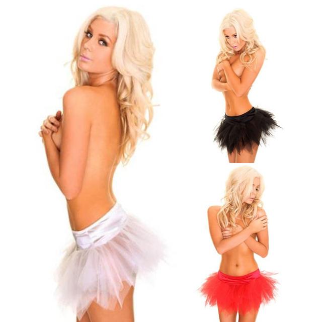 1 pcs Черный Красный Белый Женщиныs TuTu Мини Skirt Fancy Mesh Skirts Adult Petticoat ...