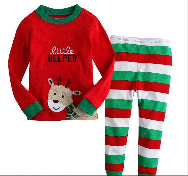 2015 spring and autumn, male and girl children's christmas wear long clothes, children's suits(China (Mainland))