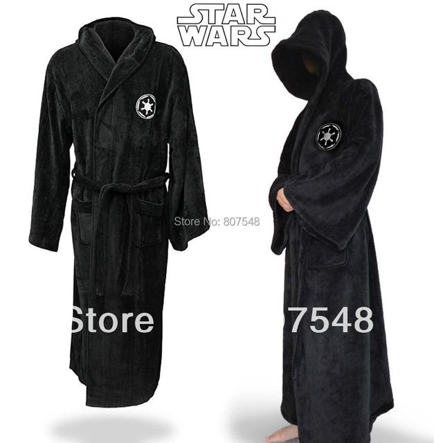 Звездные войны дарт вейдер имперский логотип флис черный халат косплей костюм