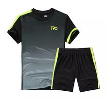 2016 17 Thai Quality Mens Kids Soccer Jersey Set Short sleeve Jersey Football Training Kits Boys Suit DIY logo XXL 3XL 4XL 5XL(China (Mainland))