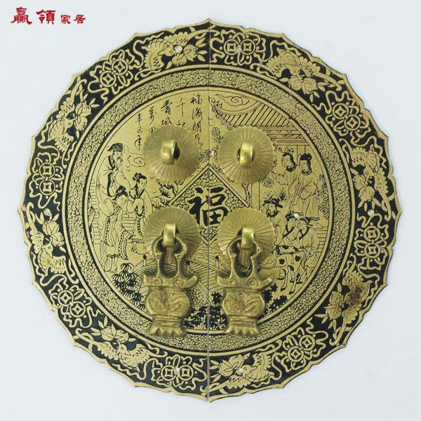 Здесь можно купить  Chinese leading home win YLB074 new ring-pull handle antique copper door handle numbers 14 / 24cm Blessing  Аппаратные средства