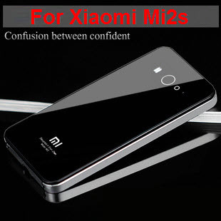 Xiaomi Mi2S case ER TO brand Tempered Glass back cover Ultrathin Metal Frame cellphone case for