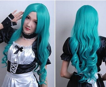 ZCS 706WWW00001457 Free Shipping ++Sailor Moon Sailor Neptune Full Party and Cosplay Wigs Green in Beauty(China (Mainland))