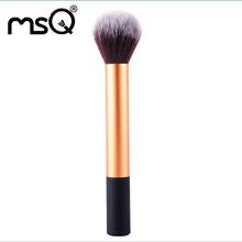 MSQ Yellow Synthetic Hair RC Foundation Makeup Brush,Cheek Single Brush KIt ,Free Shipping