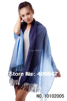 2013 HOT PURE PASHMINA Women Scarf wool Shawls scarfs fashion style Gradually Changing Color Musilim Scarves 2013 Free Shipping
