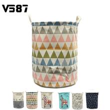 Large Capacity Waterproof Folding Laundry Hamper Bag Cartoon Anchors Trojans Stripe Drawstring Clothes Storage Baskets(China (Mainland))