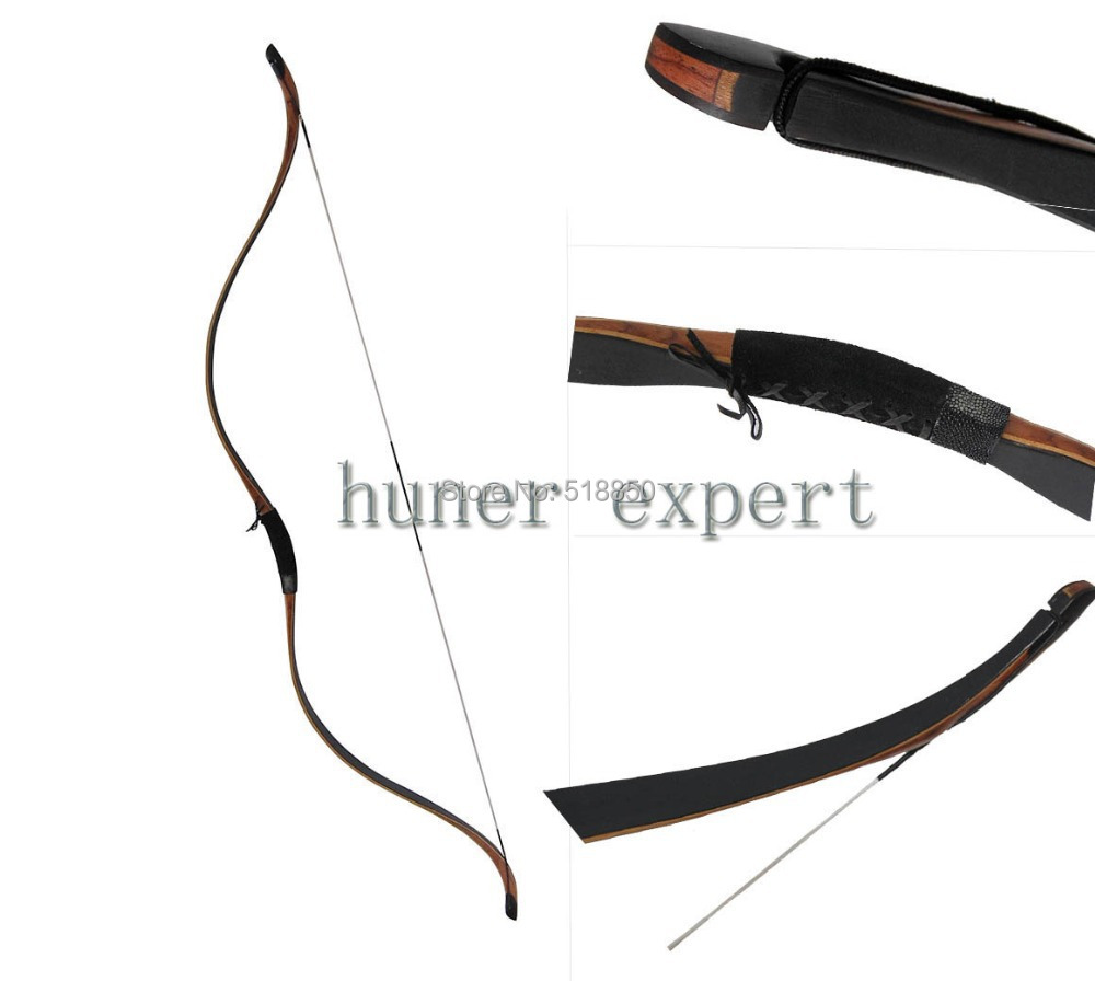 archery DIY hunting or practicing chinese recurve longbow 53'' black laminated wooden horsebow 50lbs(China (Mainland))