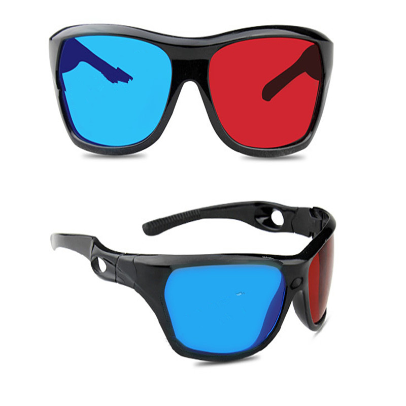 High Quality Universal 3D Plastic Glasses/Oculos/Red Blue Cyan 3D Glass Anaglyph 3D Vision/Cinema(China (Mainland))