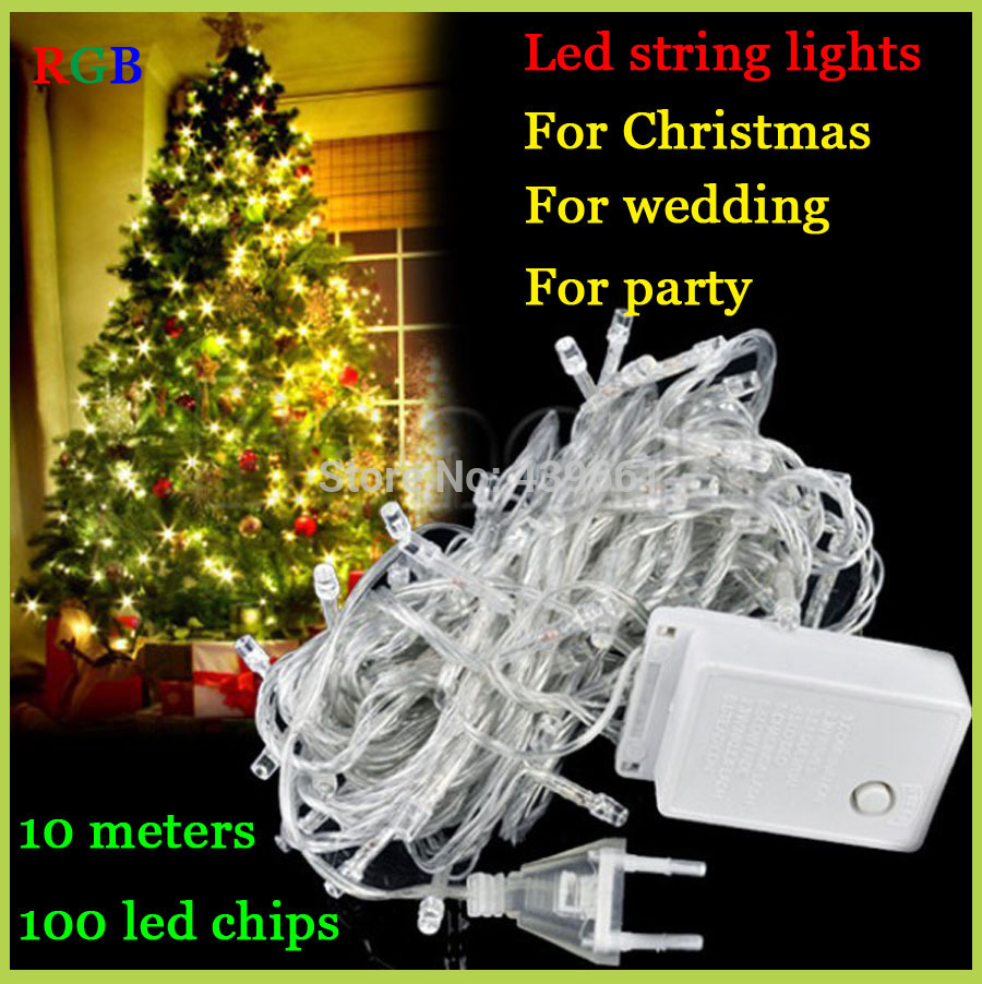 Led String Lights Wedding : Big discount for promotion LED String Light lamps10M 85 265V Decoration light Party Wedding ...