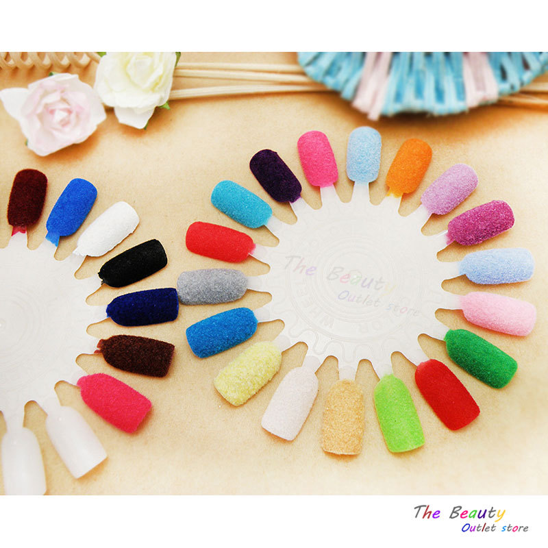 5Pcs Nail glitter Flocking Powder For Nail Mixed Colors Decoration For Nails Colorful Powder Velvet Mate's Gel For Nail Art(China (Mainland))