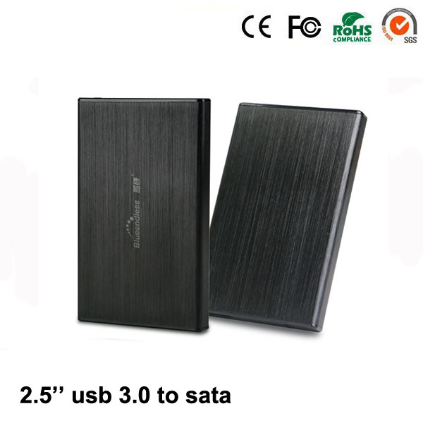 Aluminium Enclosure Case Faster Transfer Speed USB 3.0 External Hdd Enclosure 1TB Slim Disk Case Hard Disk Enclosure Box(China (Mainland))