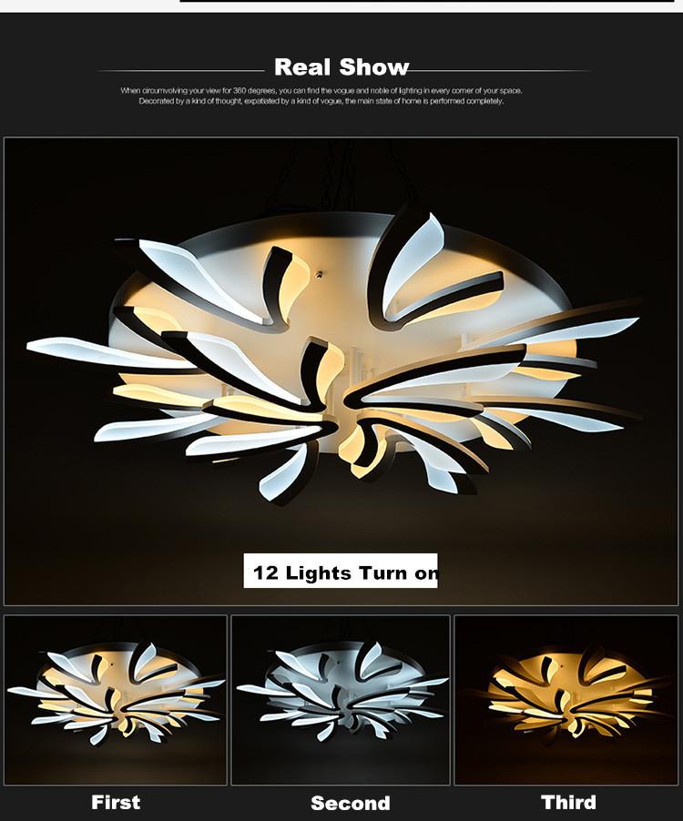 Купить Новые Акриловые Современные светодиодные потолочные светильники для гостиной спальня Plafon вела домашнее Освещение потолочный светильник освещение для дома светильники